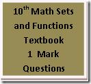 10th Maths Sets and functions 1 marks questionss
