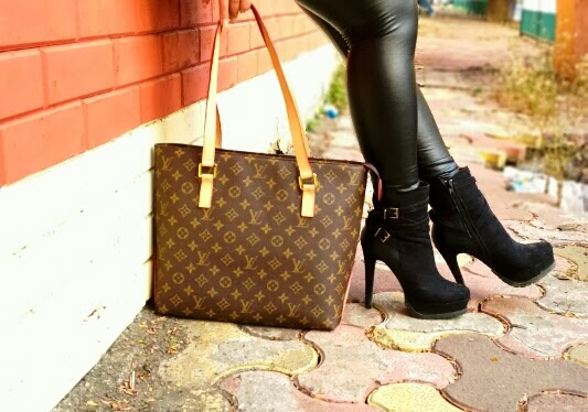 Louis Vuitton Bag, Forever 21 Ankle Boots