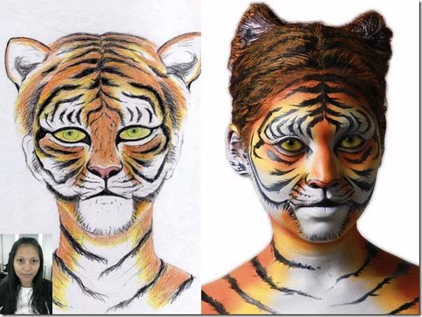 maquillaje de tigre (9)