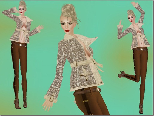 aDiva couture Alissa Boucle Fur Mix Jacket