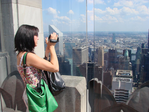 Top of the Rock Observation Deck - Ivet is filming