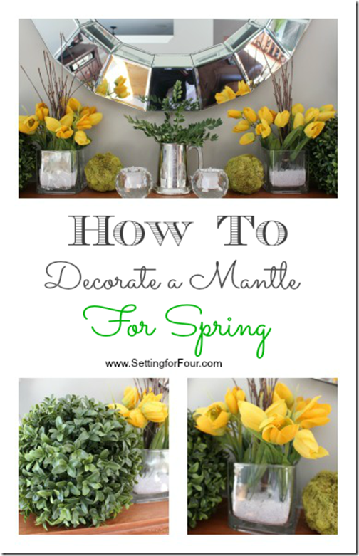 spring, mantel, how to, tulips