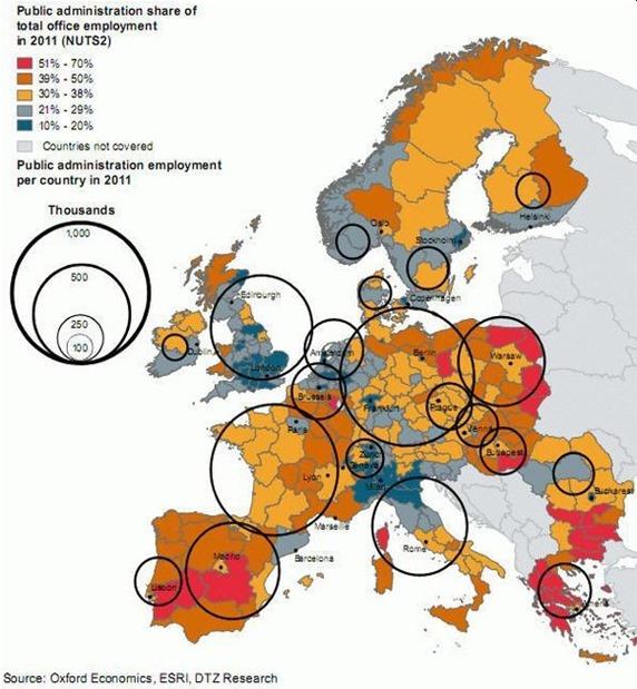 nivèl comparat entre lo caumatge e los foncionaris dins l'UE
