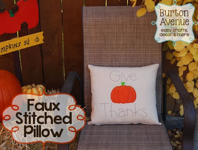 Faux Stitched Pillow 13