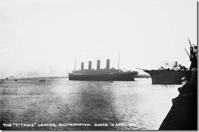 Titanic,Southampton postcard
