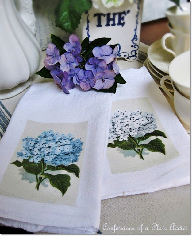 Easy Hydrangea Tea Towels