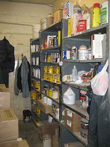 One of the storage areas for supplies.