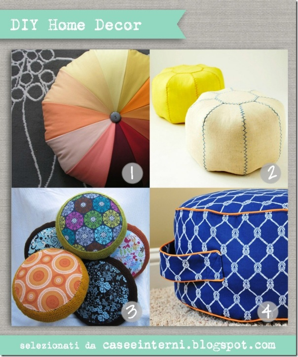 case e interni - DIY - tutorial pouf tondo