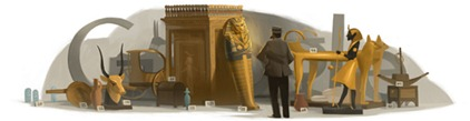 Howard Carter's 138th Birthday - Google Logo