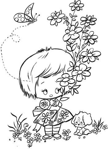 desenhos-para-colorir-menina-com-flores