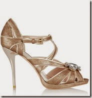Lucy Choi Metallic Suede Sandals