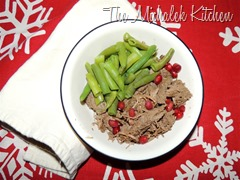Pomagranate Jalapeno Beef w Grn Beans