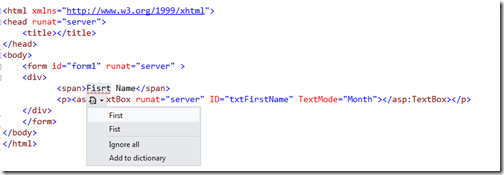 HTML Spell Checker Exetension for visual studio 2012