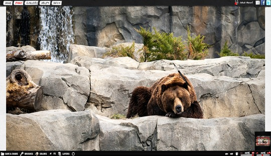 bear photo painting psykopaint