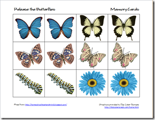 butterflies memory cards 1