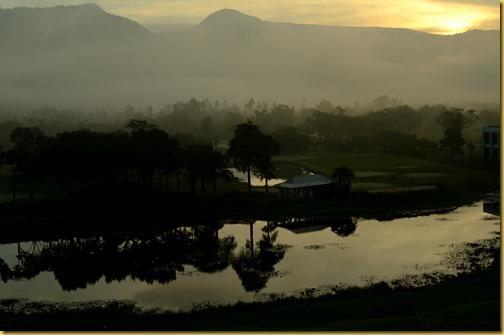 Misty morning in Thailand, Nakhon Nayok, Thailand