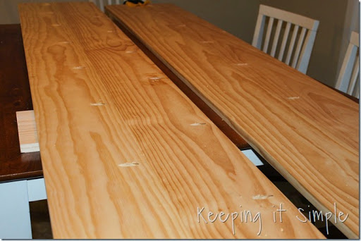 Keeping it Simple DIY Dining Table with Burned Wood Finish using