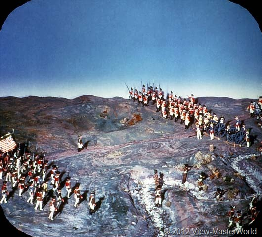 View-Master The Revolutionary War (B810), Scene B7: Battle of Saratoga, 1776