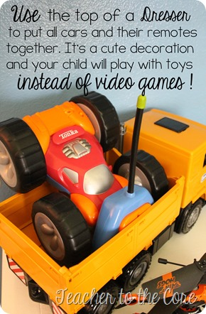 Organize your childs room to entice them away from video games