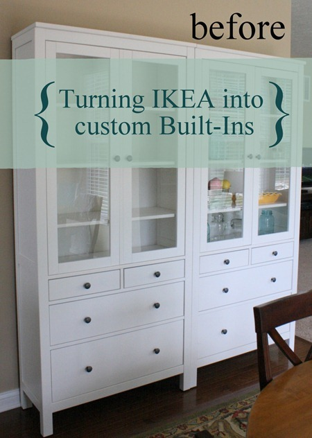 A charming nest turning ikea into custom built ins part i for this project we used the hemnes furniture line from ikea again this time we used two hemnes glass door cabinets with four drawers planetlyrics Choice Image