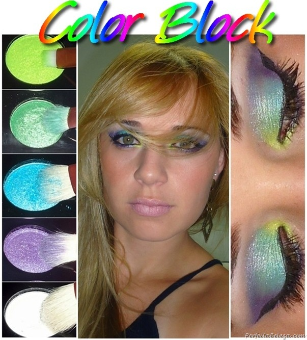 maquiagem colorblock