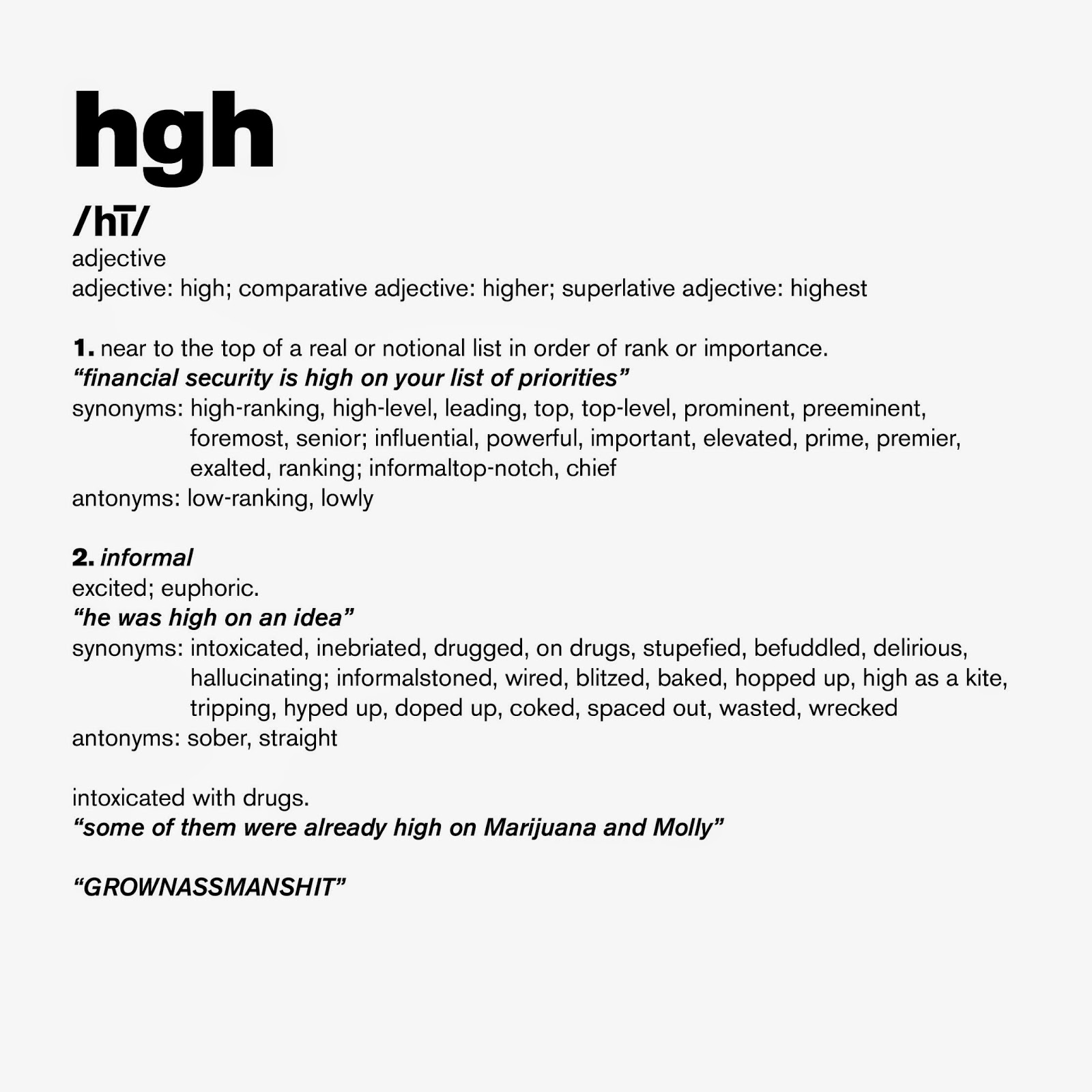 HGH DEFINITION.