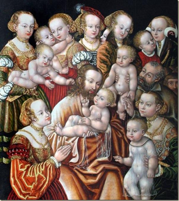 Christ bénissant les enfants, Cranach