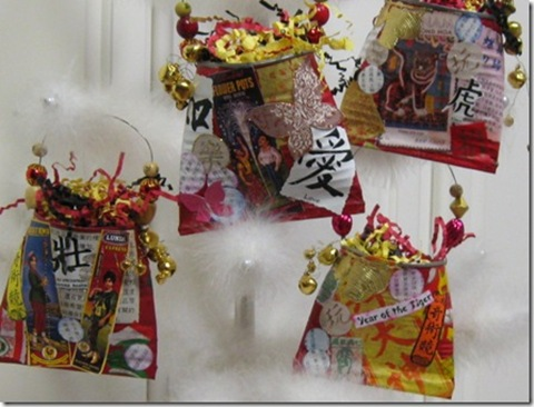diy chinese new year decorations made from vegetable cans