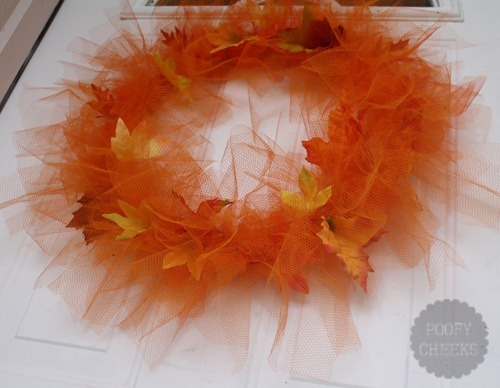 Tulle Fall Leaf Wreath