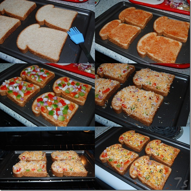Bread pizza process
