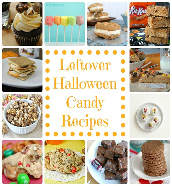 Leftover Halloween Candy Recipes from The Pink Four