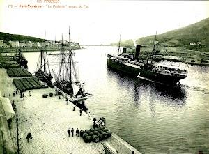 El MEDJERDA saliendo de Port Vendres. Foto de portada del libro DARRERE EL MEDJERDA. Colección del Sr. Jesus Martinez y Curto.jpg