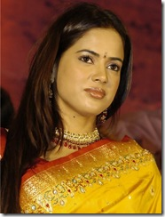 sameera  reddy in pattu saree