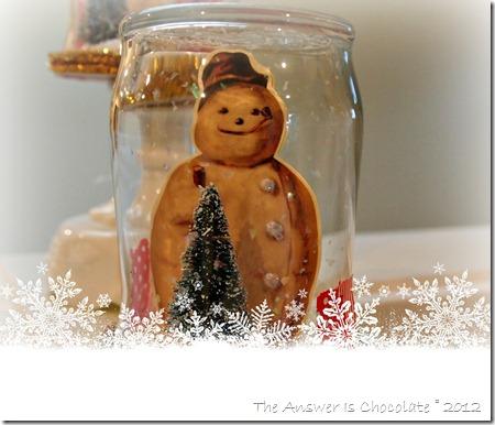 Frosty Snoman Jar