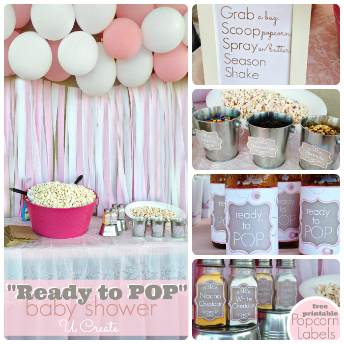 "Ready to ""POP"" baby shower with tons of ideas and free printables"