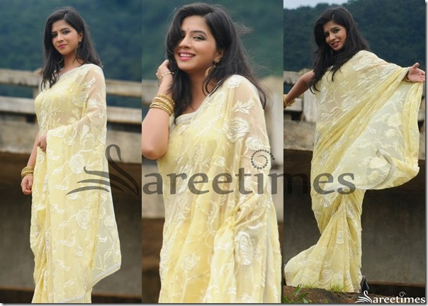 Nisha_Sha_Yellow_Embellished_Saree