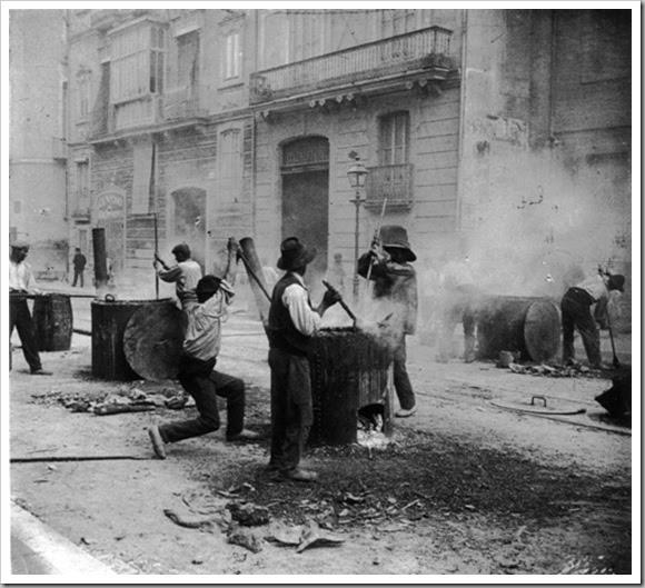 Asfaltado de calles 1909