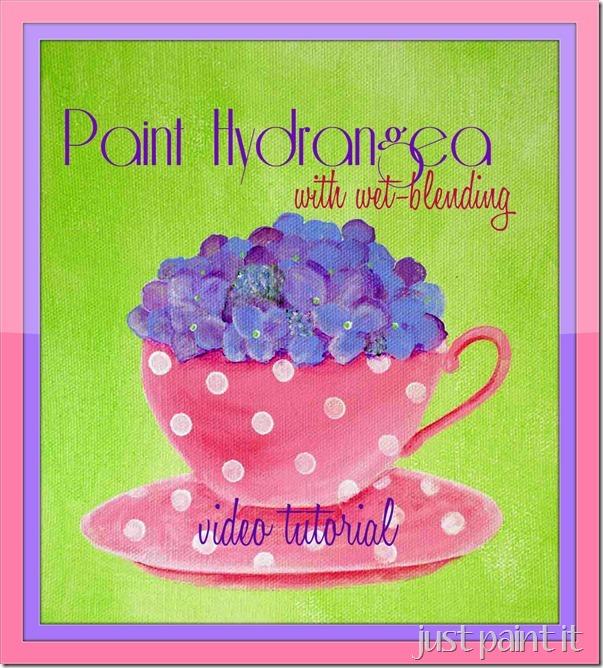 paint hydrangea wetblending