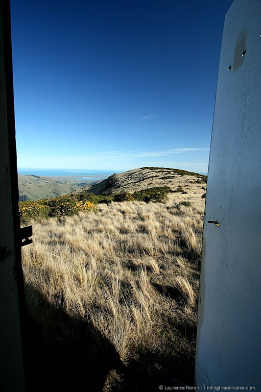 View from inside Mount Herbert Toilet