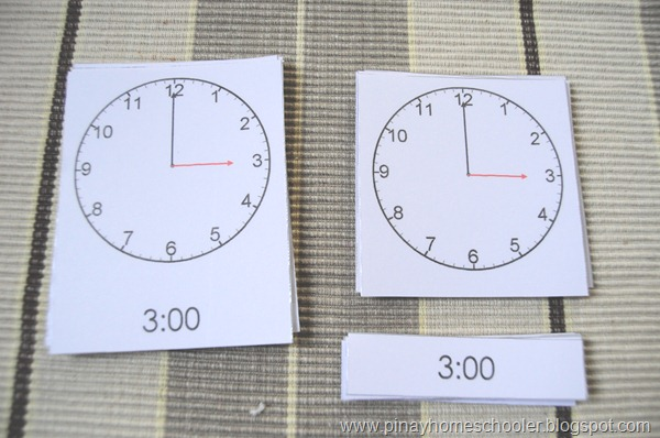 Montessori Inspired Clock and Time Activities (with FREE Cards)