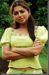 boomika in green dress