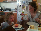 Jan 25 - Helping mum blow out her birthday candle