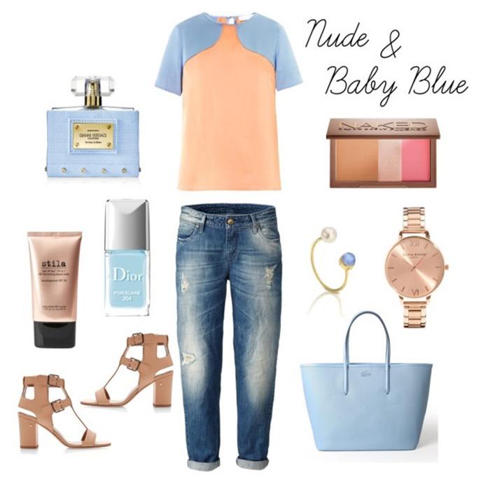nude y baby blue