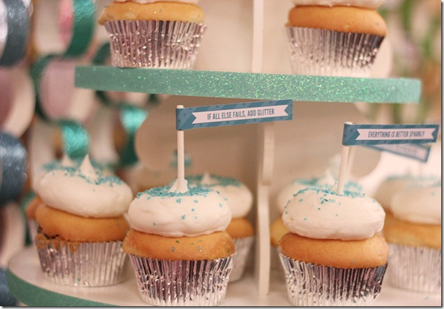 Just add glitter cupcakes