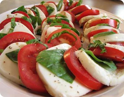 pretty caprese salad