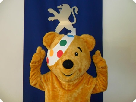 Pudsey Bear dropped into Gateway Crewe