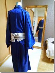 男性着物の着付け練習 (3)