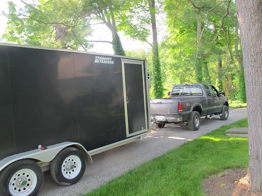 And we're off to Maine!  A loaded trailer, a full tank of gas, and enough Los Melodicos to get us through four states!