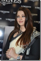 Beautiful Aishwarya Rai in Saree at Longines Watch Showroom Launch, Hyderabad