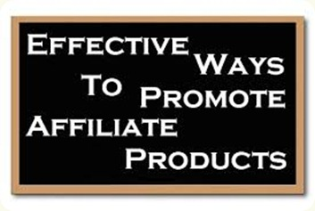 promote the affiliate products